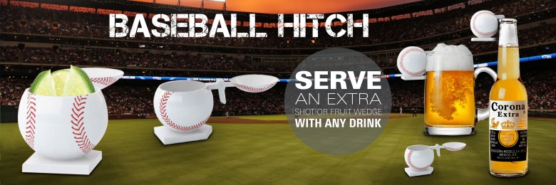 Baseball Hitch Shot Glass
