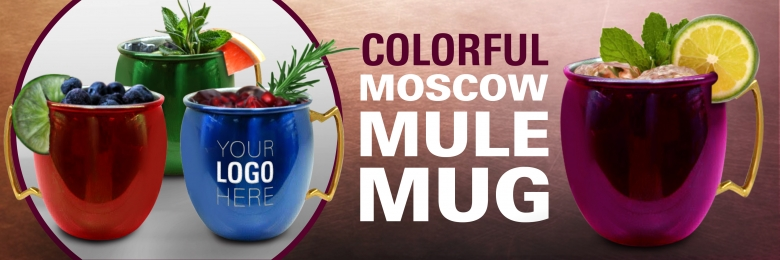 Colorful Moscow Mule Mug