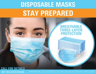 Disposable Face Masks (3-Ply)