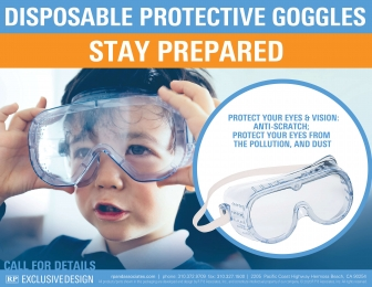 Disposable Protective Goggles