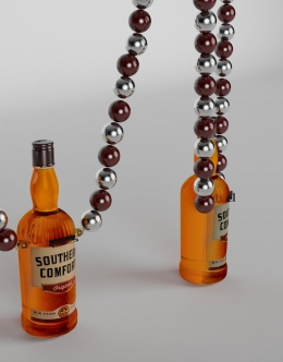 Bottle Replica Shot Glass + Beaded Necklace