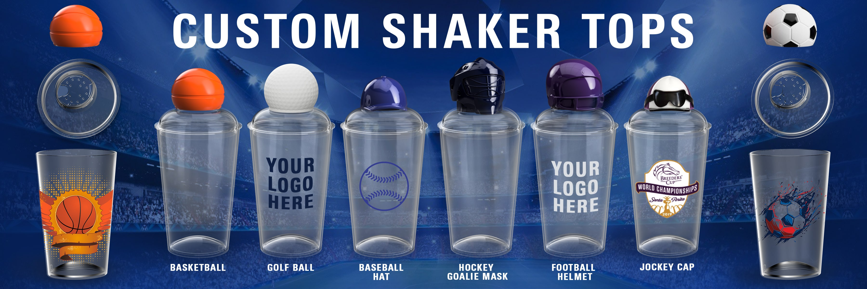 custom lid shakers