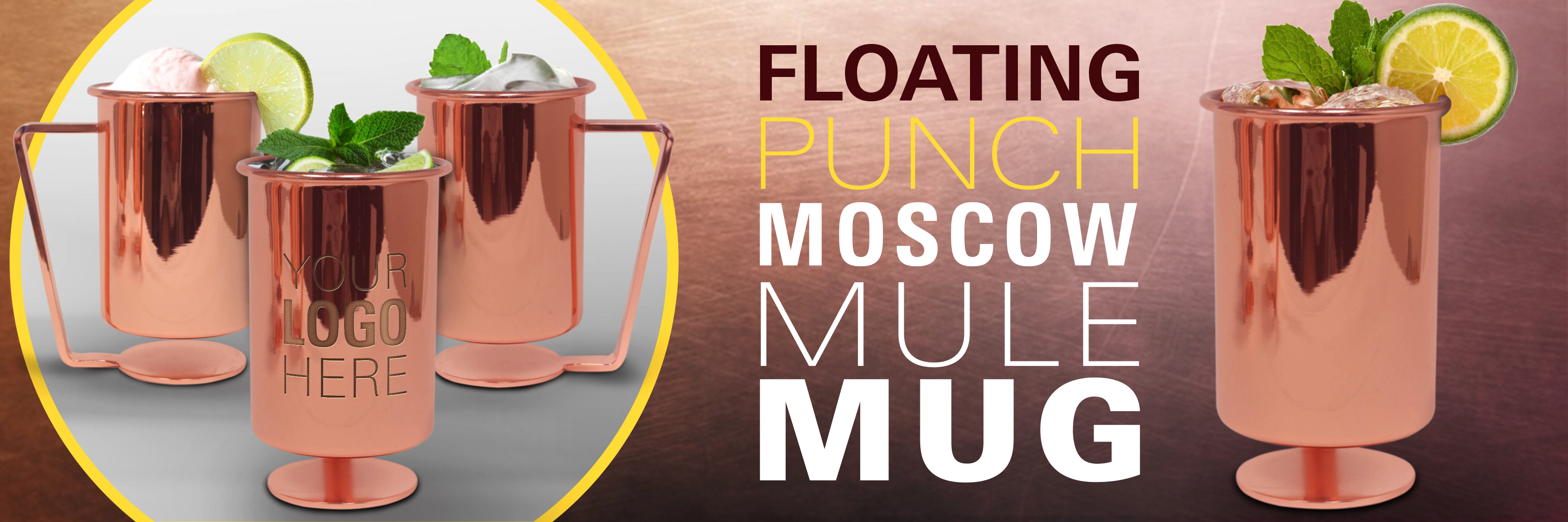 floating moscow mule mug punch