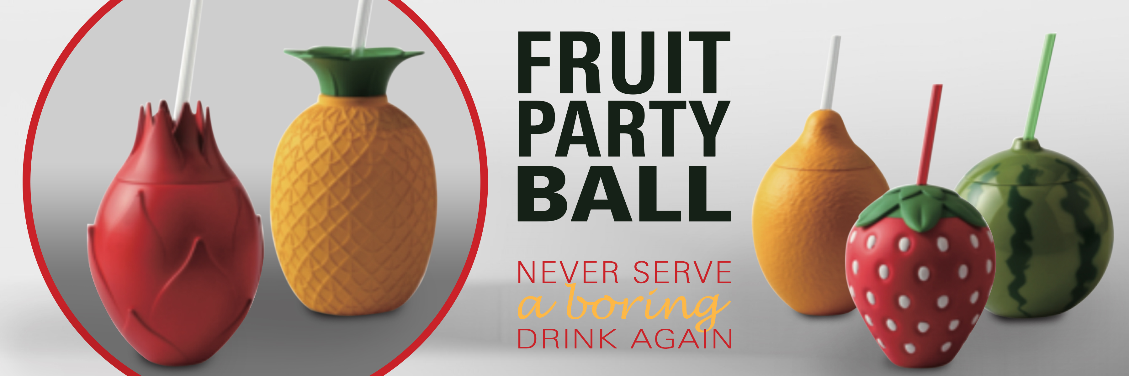 fruit party balls banner