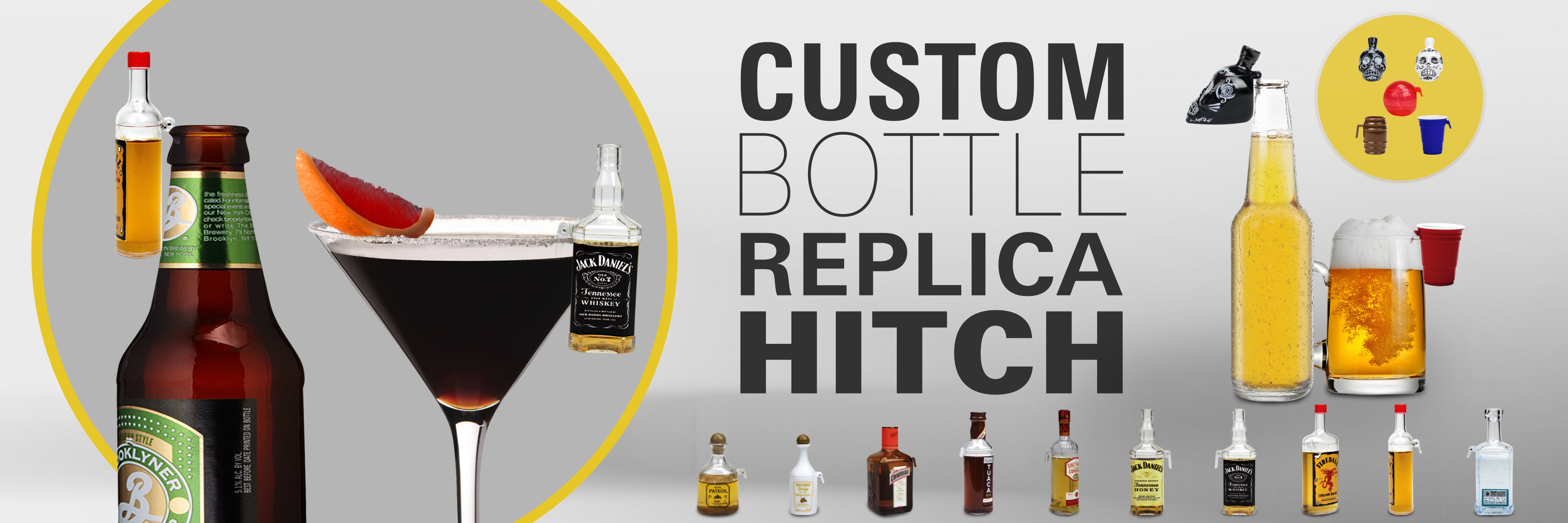 custom bottle replica hitch