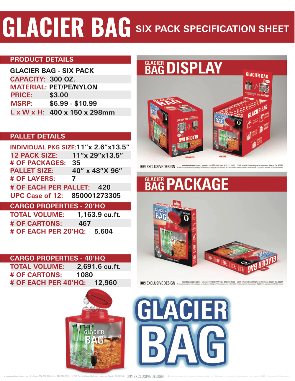 glacier bag 6 pack sell sheet 2