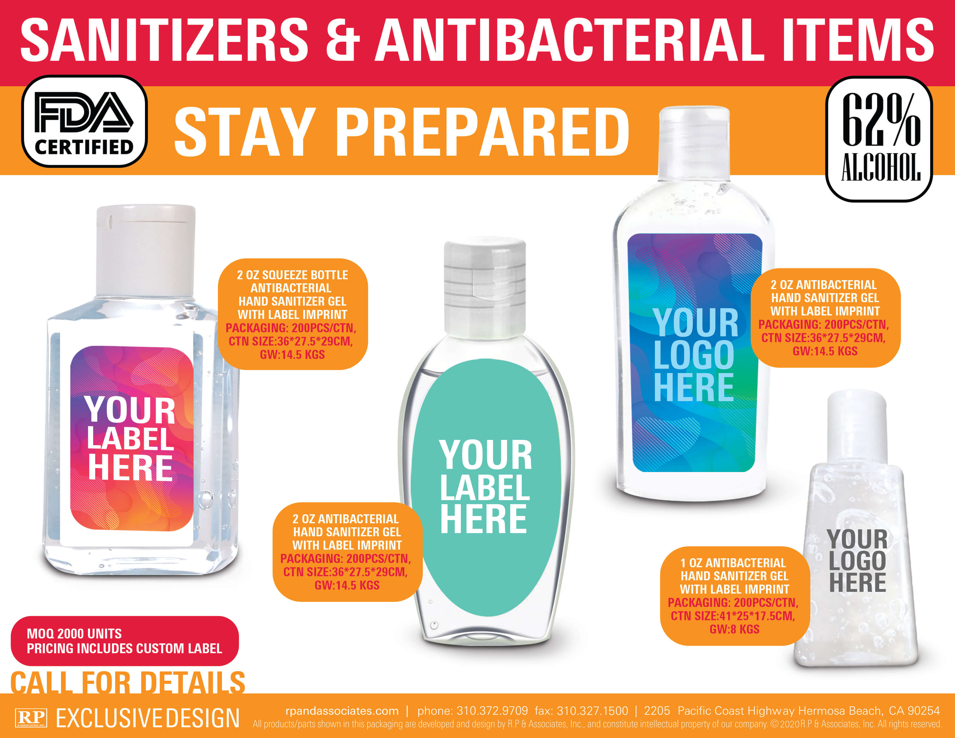 sanitizers and antibacterial items