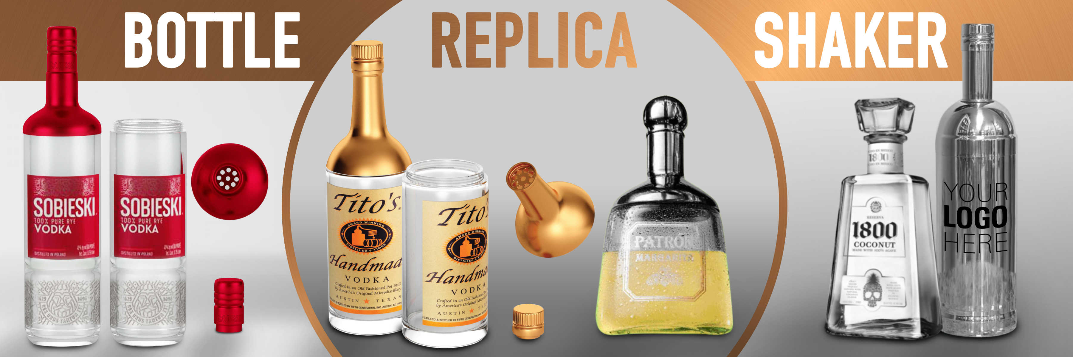 replica bottle shakers