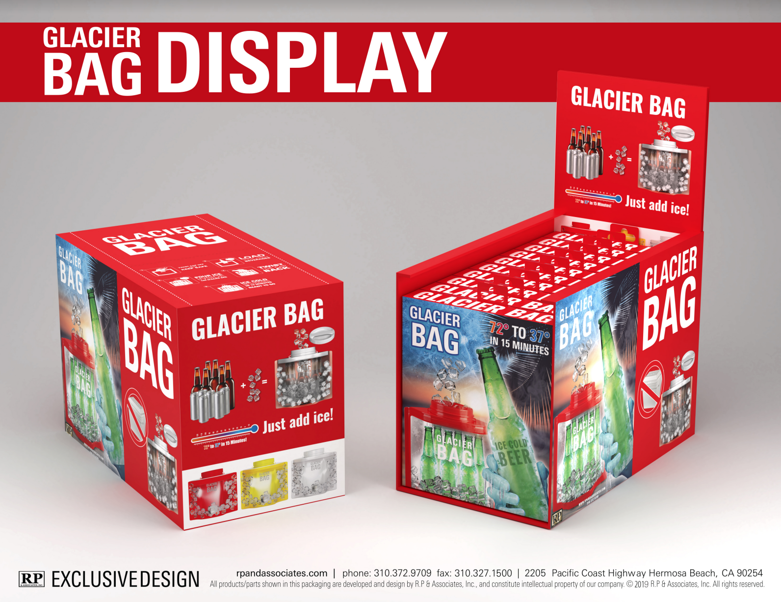 glacier bag 6 pack package