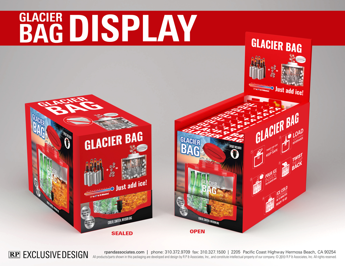 glacier bag retail packaging