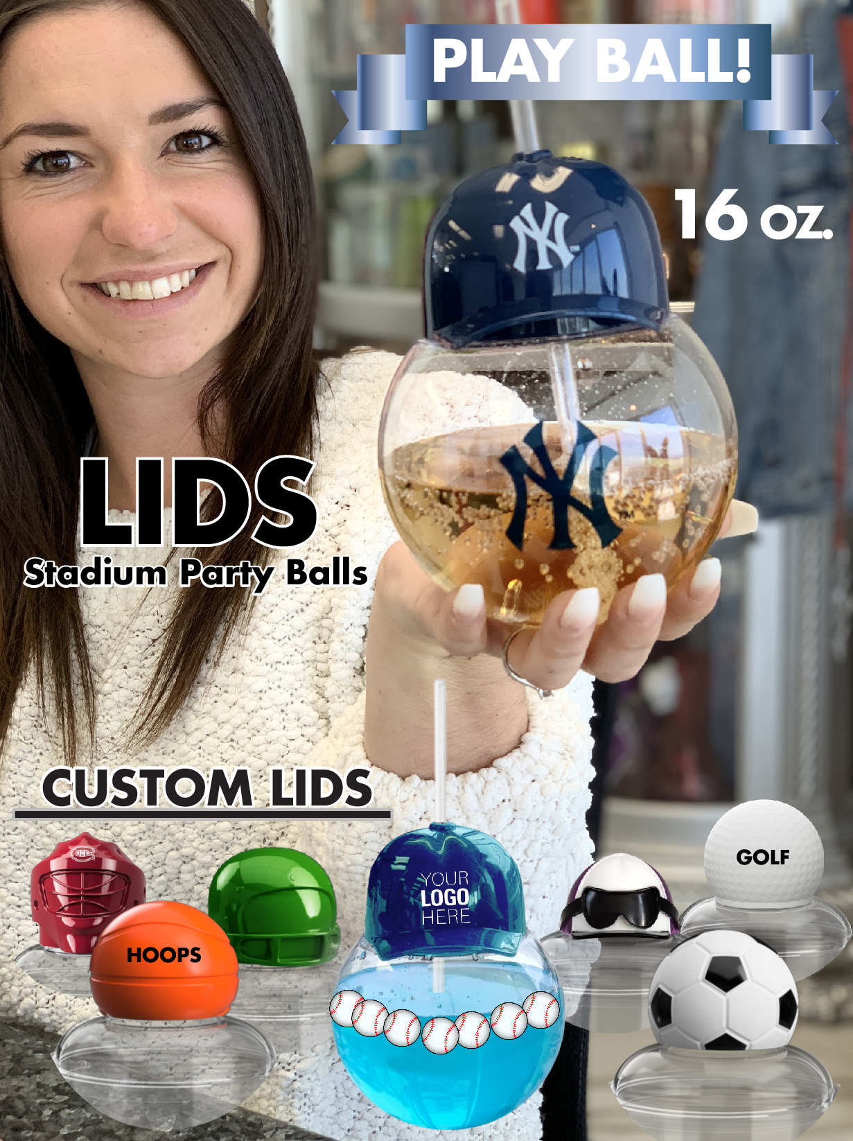 Lids Party Ball Flyer