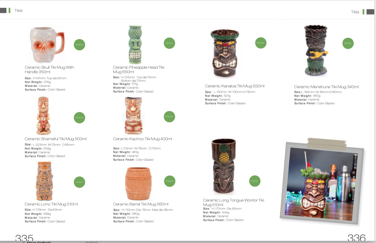 tiki mugs catalog 2