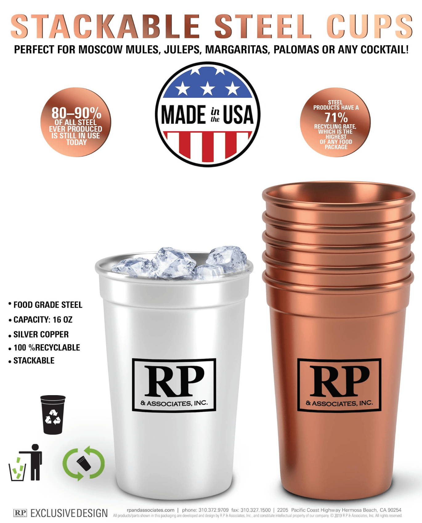sustainable steel cups made in the usa