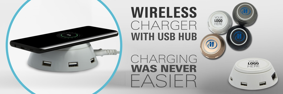 wireless charger with usb hub
